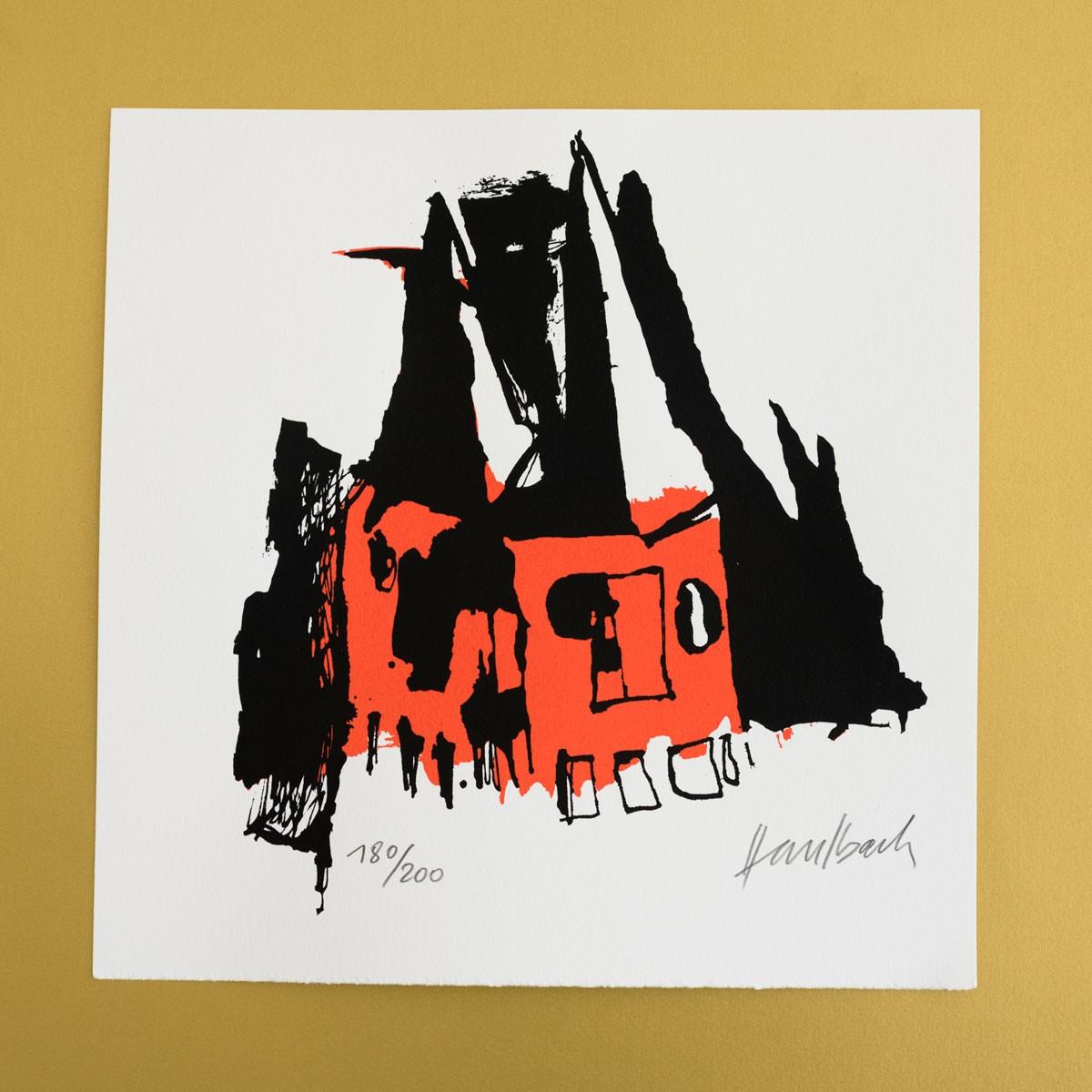 """Siebdruck """"Goetzen"""" von Marc Haselbach"""