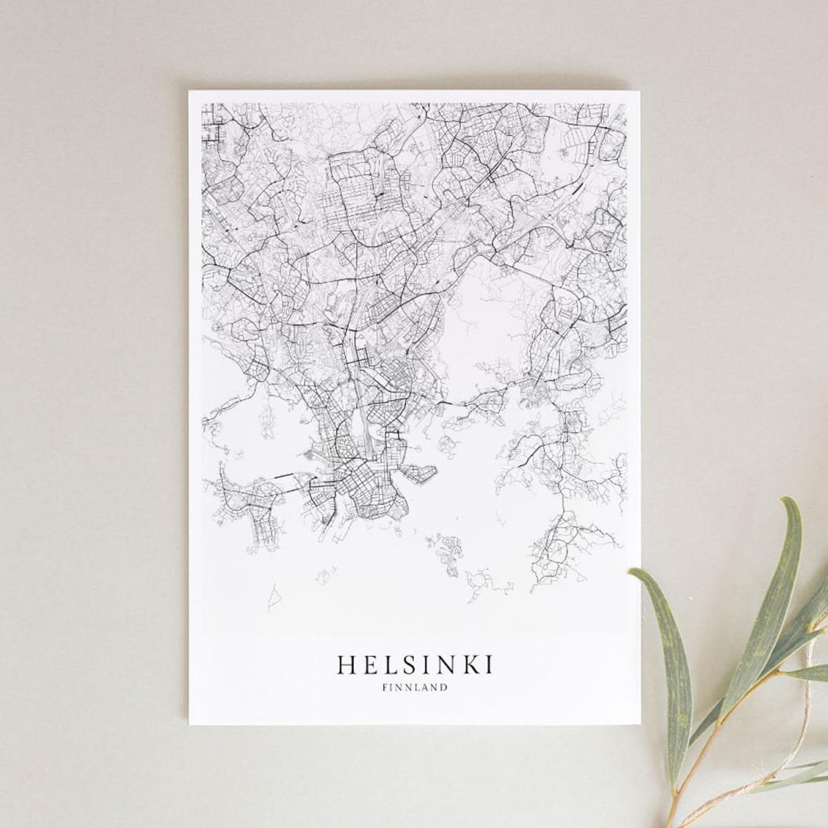 HELSINKI als hochwertiges Poster im skandinavischen Stil von Skanemarie