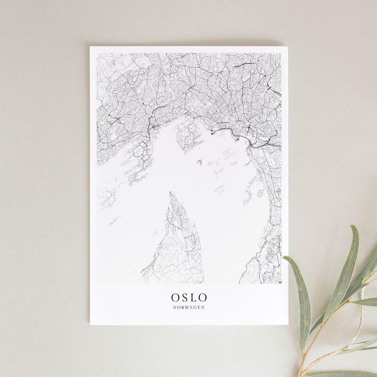 OSLO als hochwertiges Poster im skandinavischen Stil von Skanemarie
