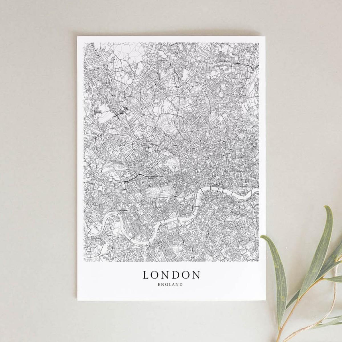 London Karte als hochwertiger Print - Posterdruck im skandinavischen Stil von Skanemarie