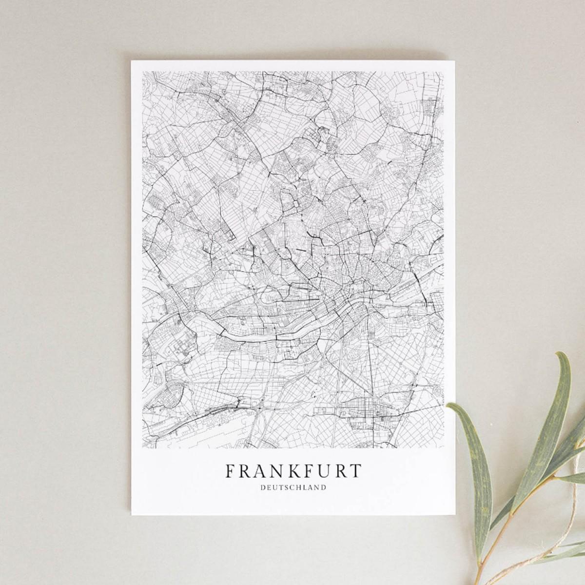 Frankfurt als hochwertiges Poster im skandinavischen Stil von Skanemarie