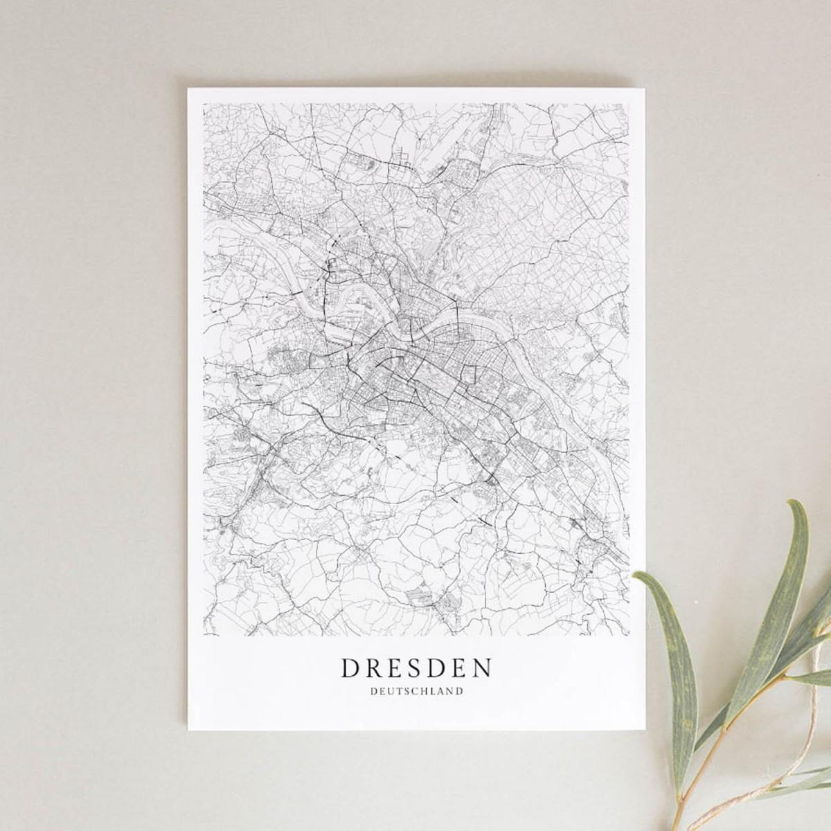 Dresden als hochwertiges Poster im skandinavischen Stil von Skanemarie