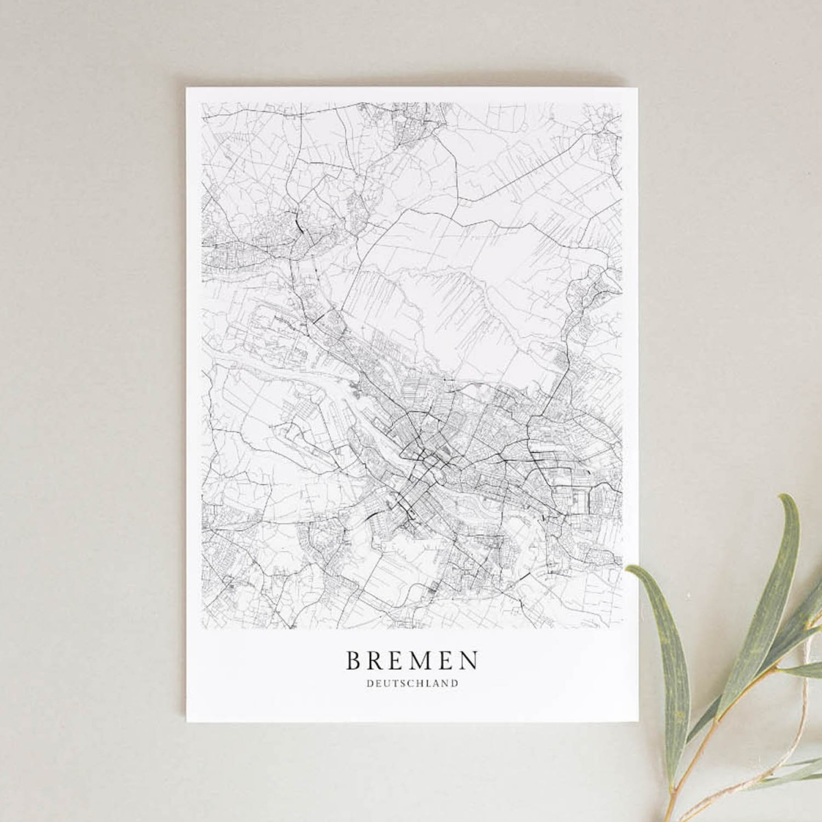 Bremen als hochwertiges Poster im skandinavischen Stil von Skanemarie