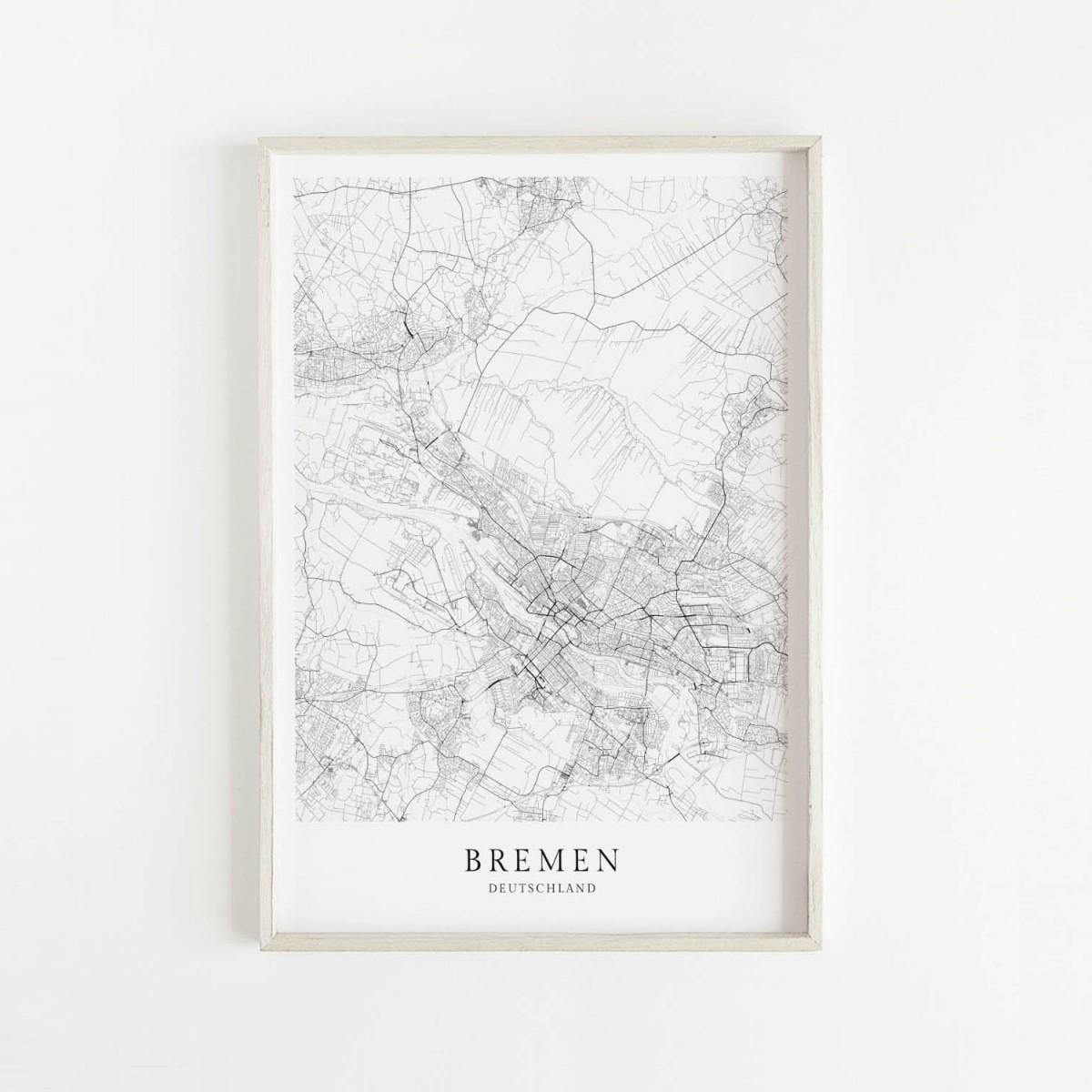 BREMEN als hochwertiges Poster im skandinavischen Stil von Skanemarie +++ Geschenkidee