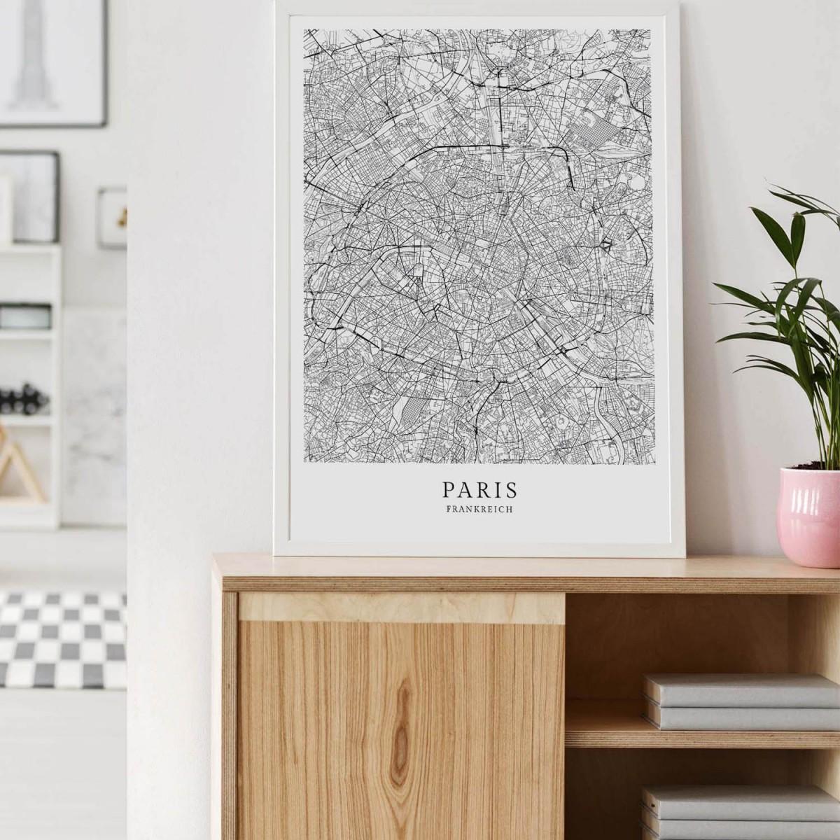 PARIS als hochwertiges Poster im skandinavischen Stil von Skanemarie +++ Geschenkidee