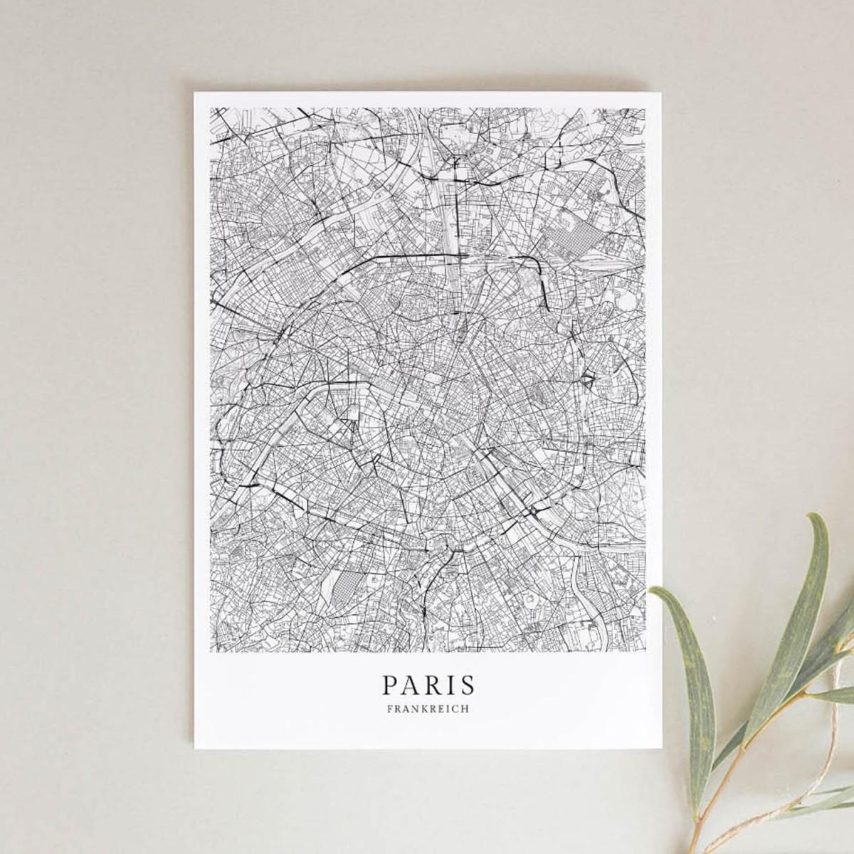 Paris als hochwertiges Poster im skandinavischen Stil von Skanemarie