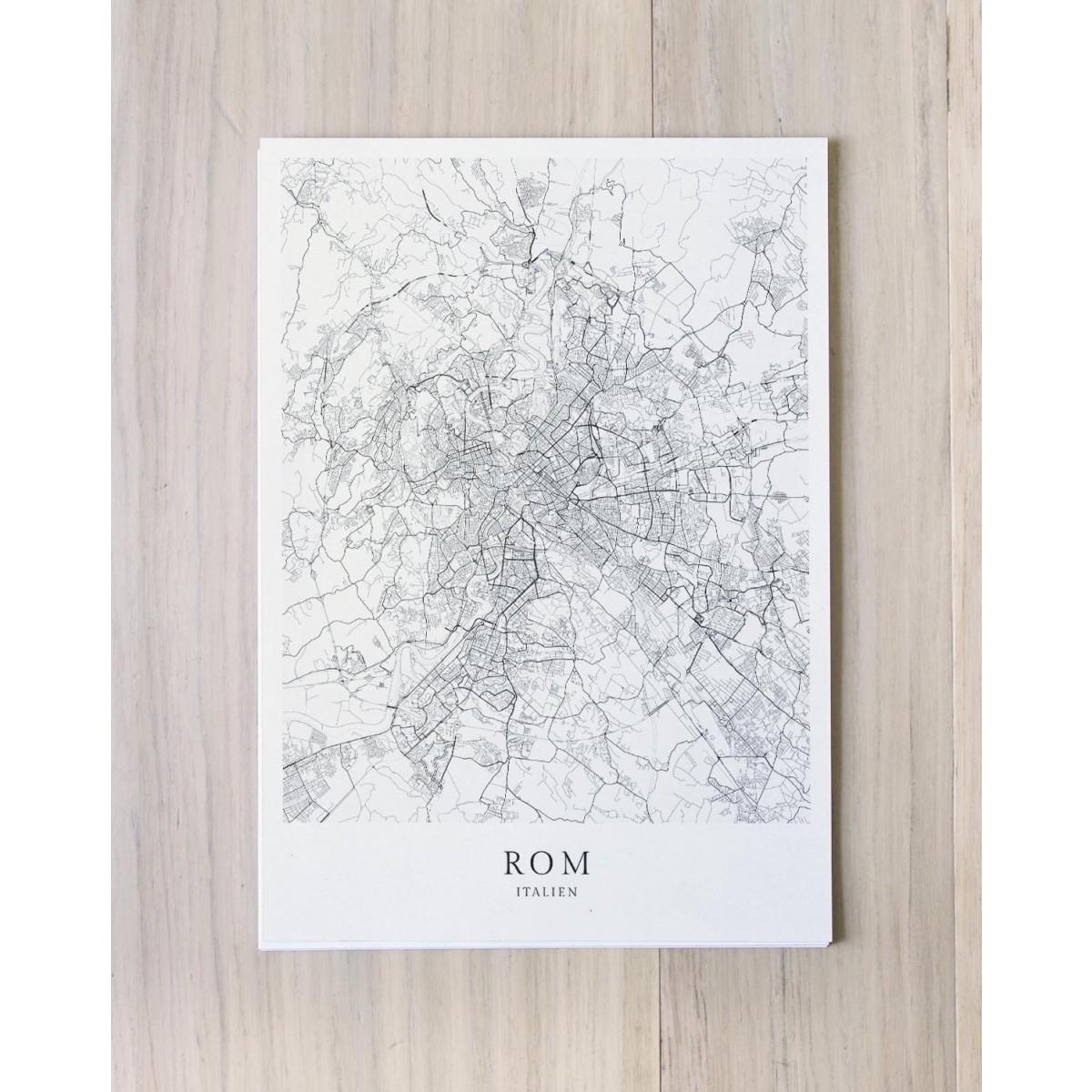 Karte ROM Italien als Print von Skanemarie