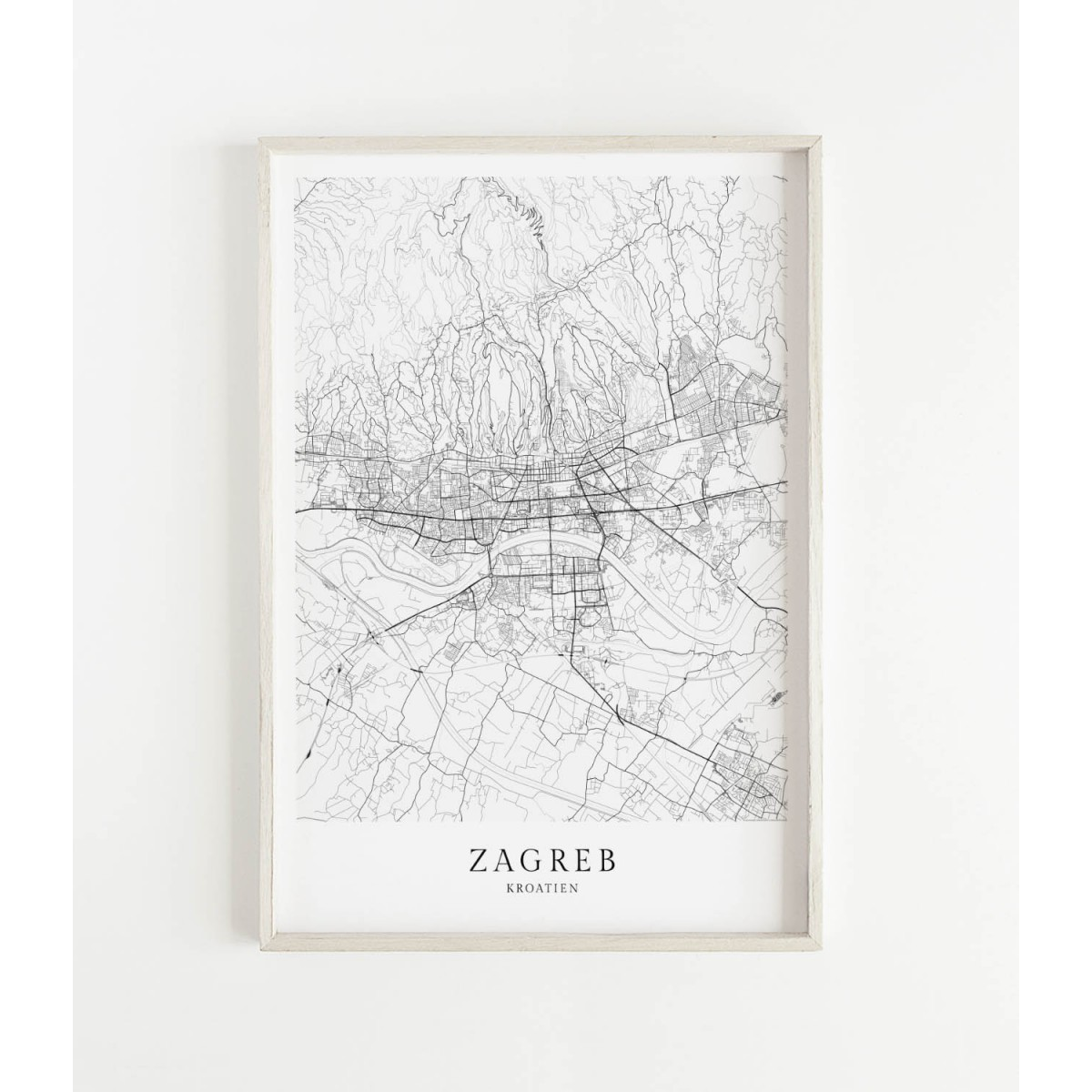 ZAGREB als hochwertiges Poster im skandinavischen Stil von Skanemarie