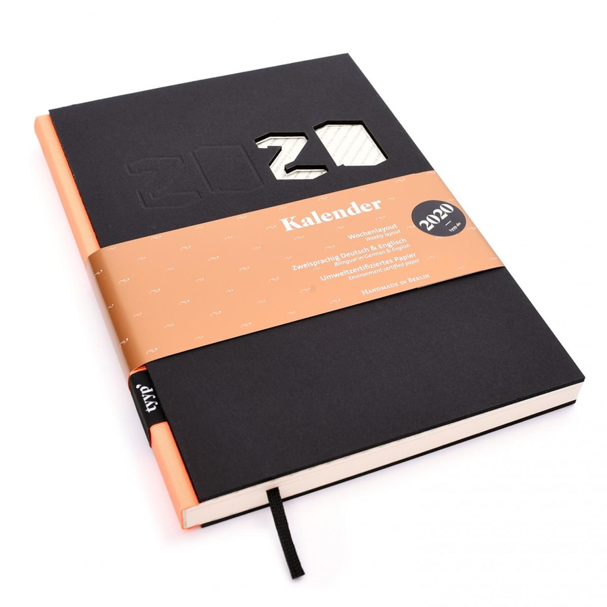 tyyp Kalender 2020 - Schwarz, DIN A5, Timer, Agenda