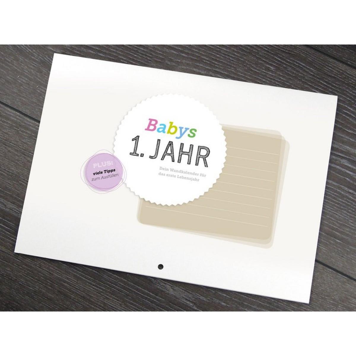 Design Verlag Babys 1. Jahr | Baby Kalender zur Geburt