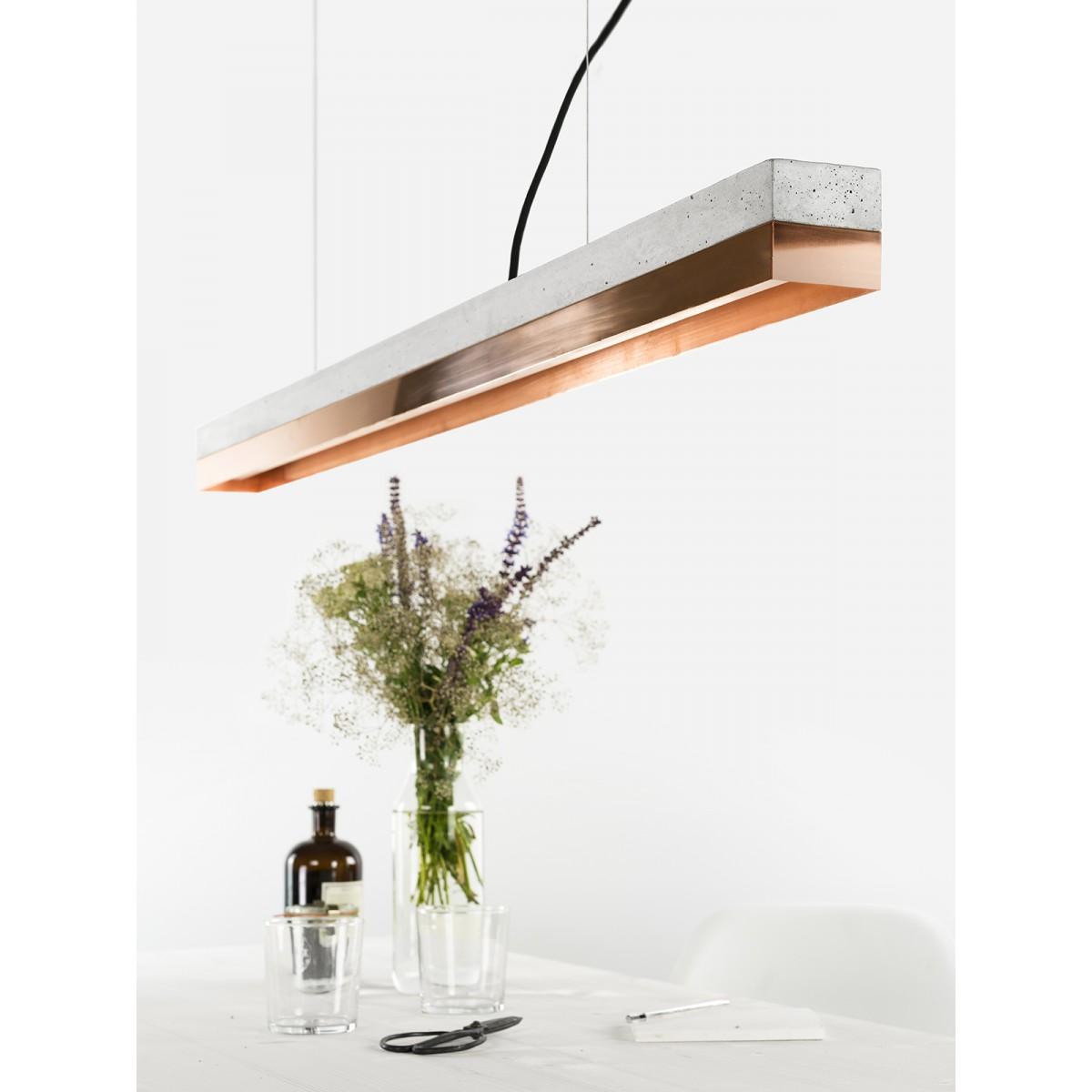 GANTlights - Beton Hängeleuchte [C1]copper Lampe Kupfer minimalistisch