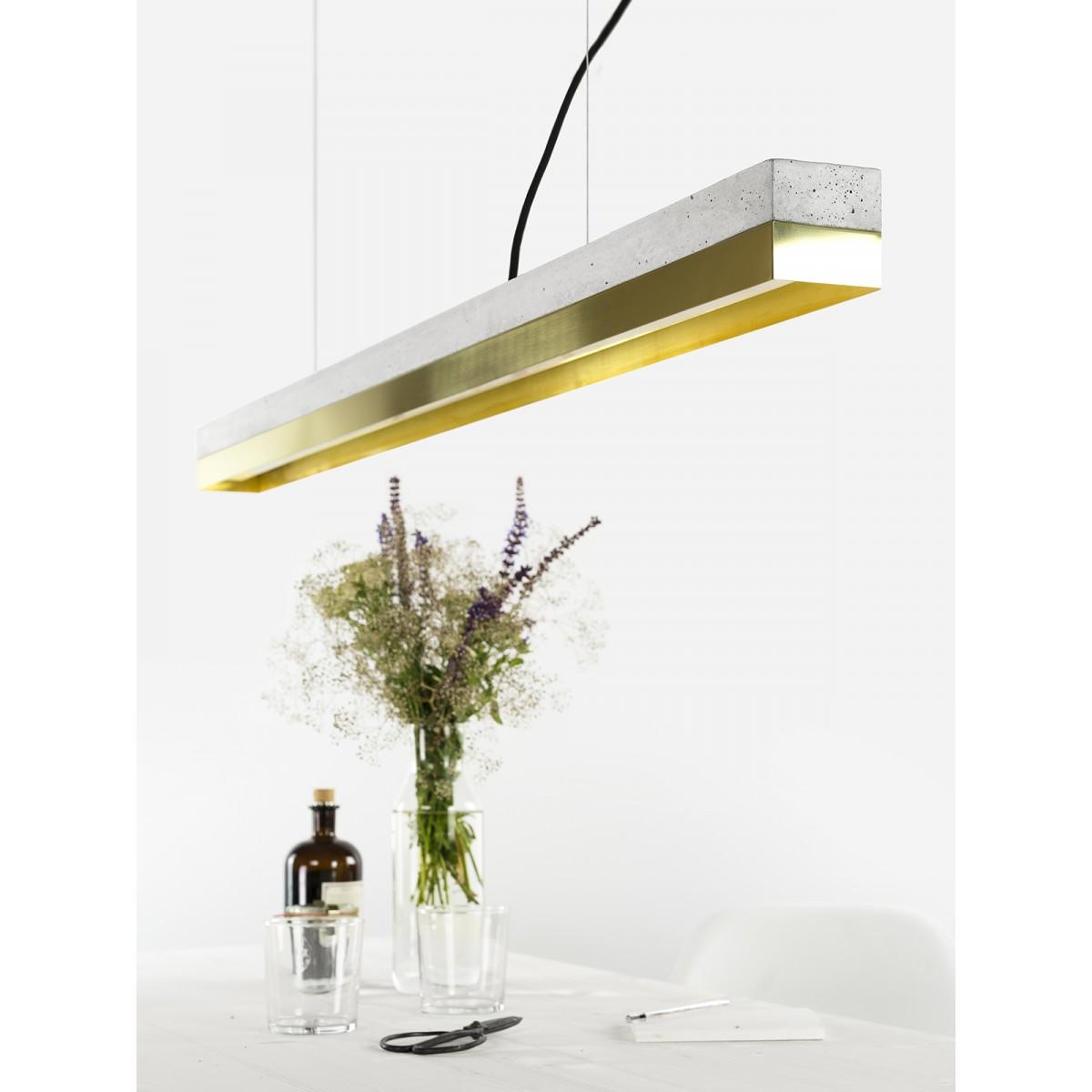 GANTlights - Beton Hängeleuchte [C1]brass Lampe Messing minimalistisch