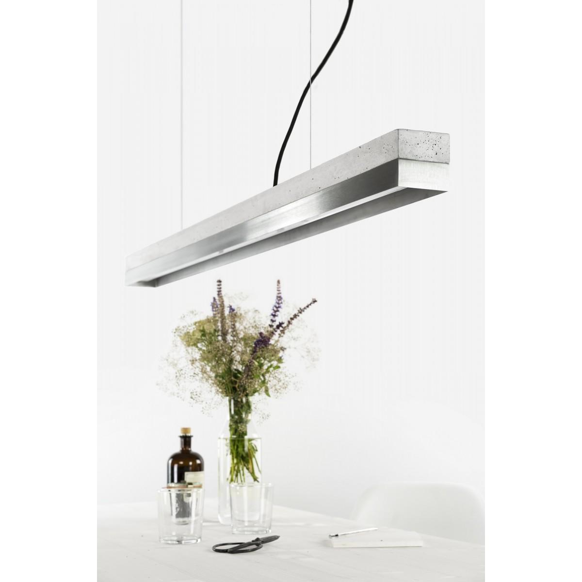 GANTlights - Beton Hängeleuchte [C1]stainless steel Lampe Edelstahl minimalistisch