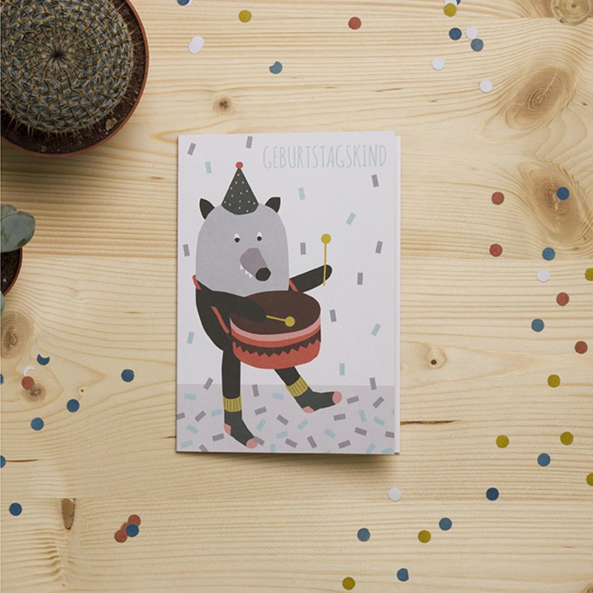 """HEJ Marlen Grußkarte """"Geburtstagskind"""" mit hochwertigem Kuvert"""