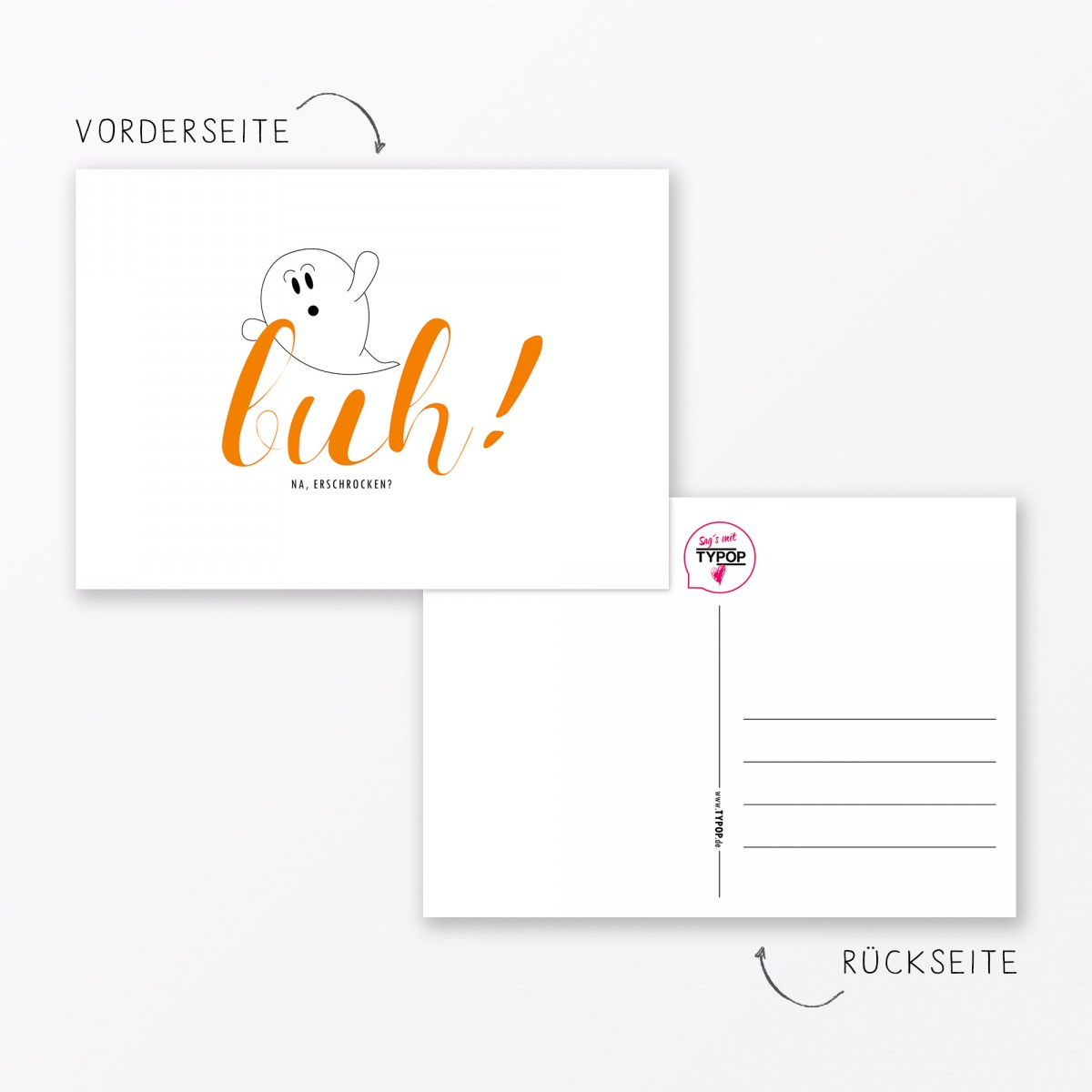 "TYPOP Postkarte ""Buh"" DIN A6"