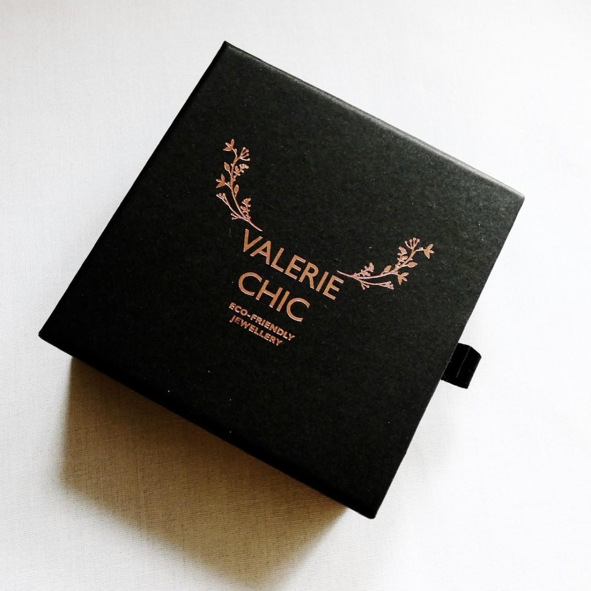 Valerie Chic - LANA Kette Choker - 18 Karat vergoldet, Büffelhorn