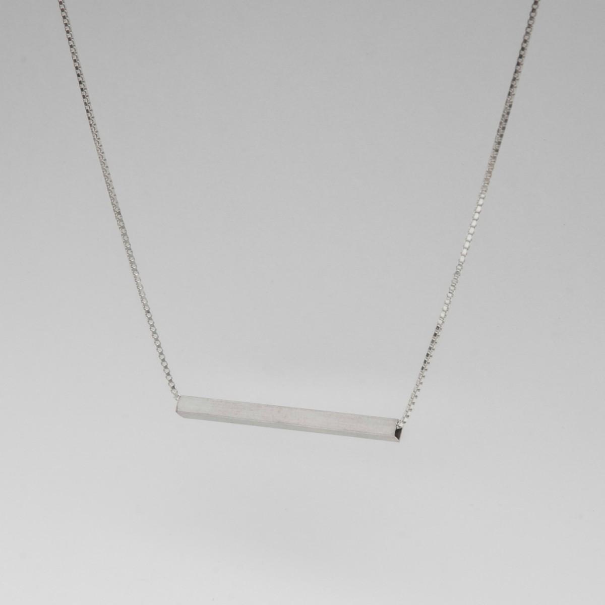 Jonathan Radetz Halskette SQUARE 40, Silber 925