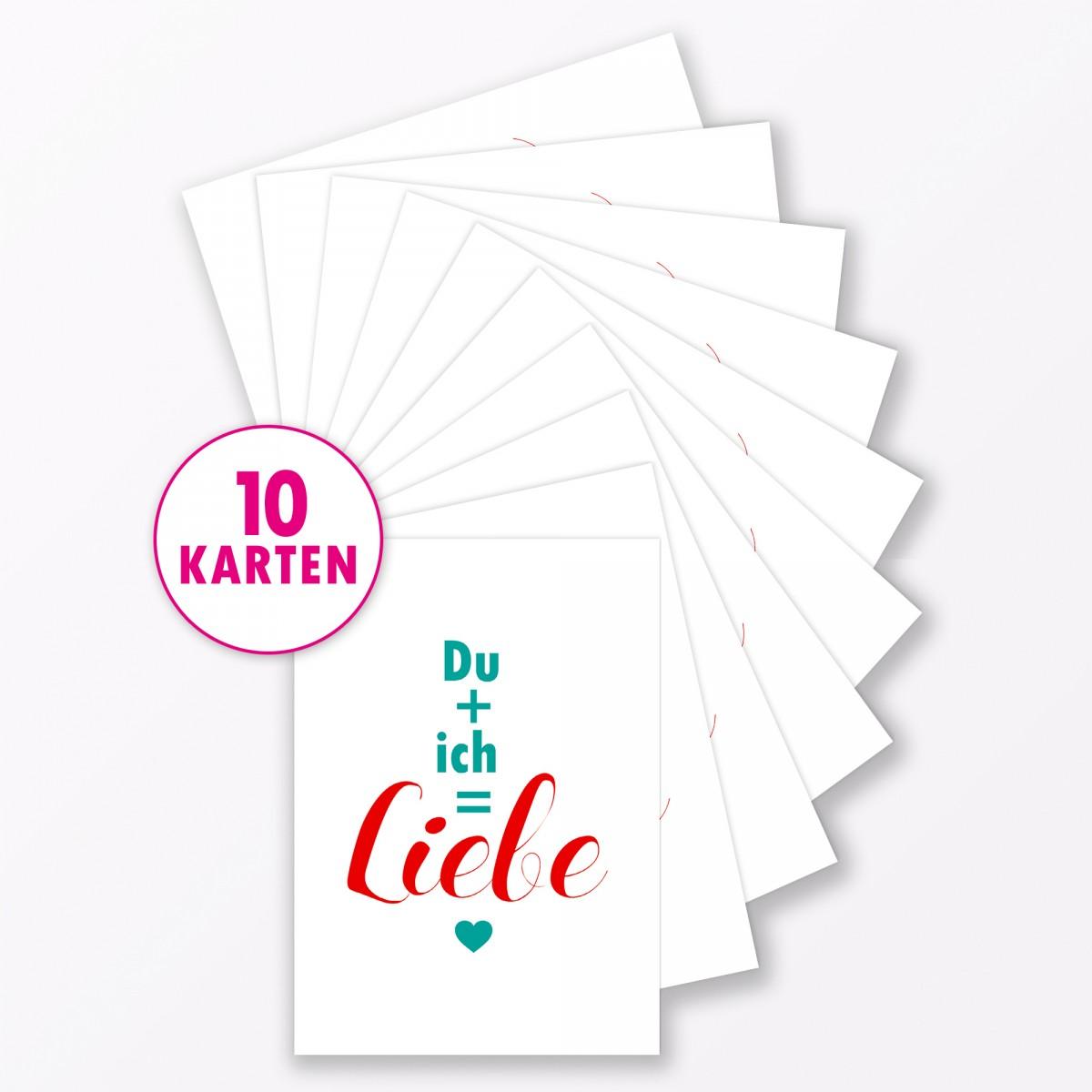 "TYPOP Postkarte ""Du + Ich"" DIN A6"