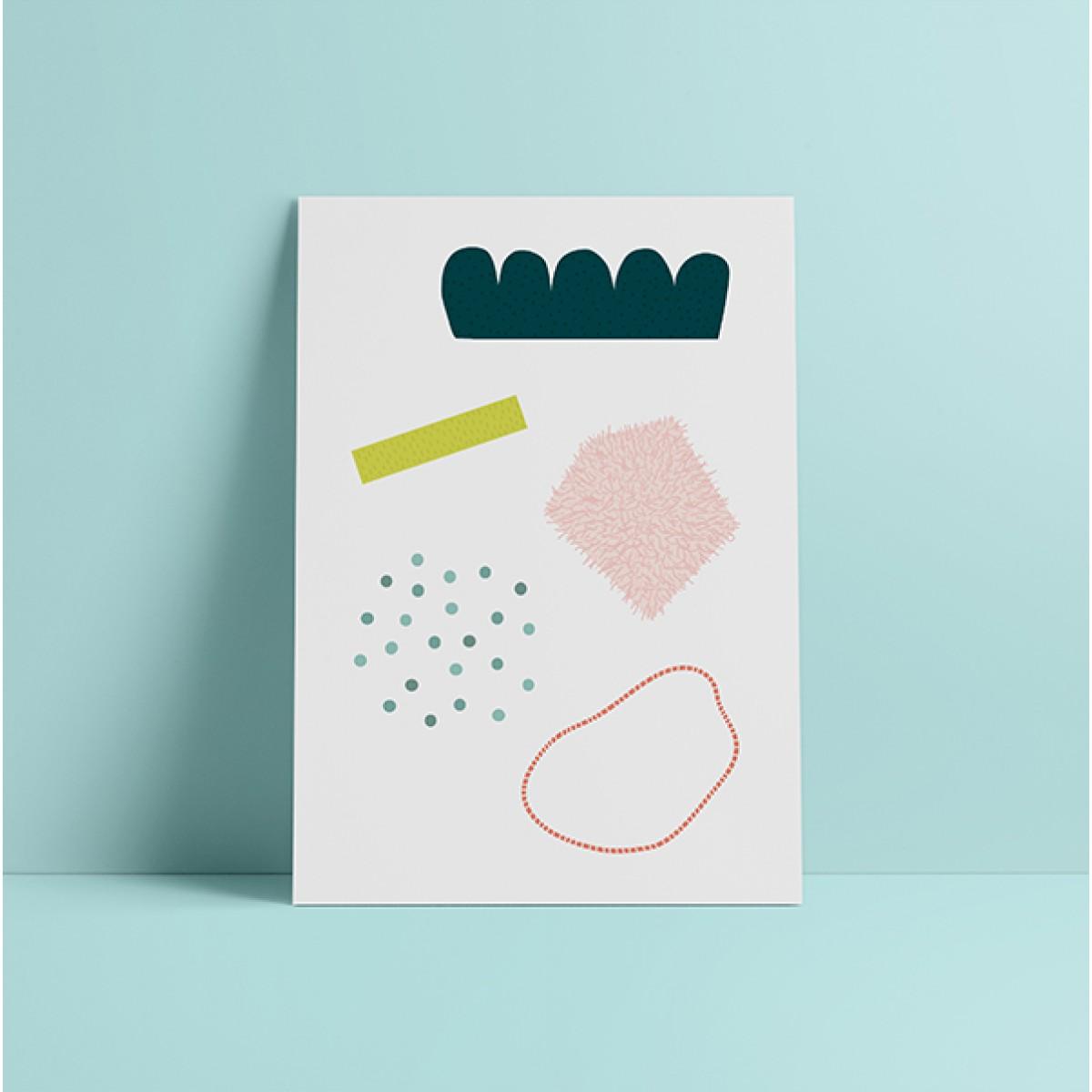 """HEJ Marlen Poster """"Helmi"""" A3"""