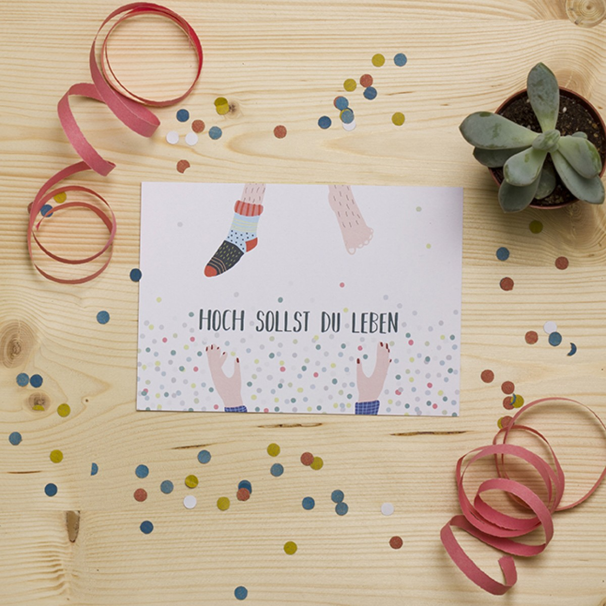 "HEJ Marlen Postkarte ""Hoch Hoch Hoch"""