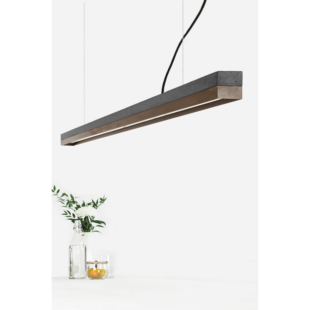 GANTlights - Beton Hängeleuchte [C3]dark/corten Lampe Cortenstahl minimalistisch