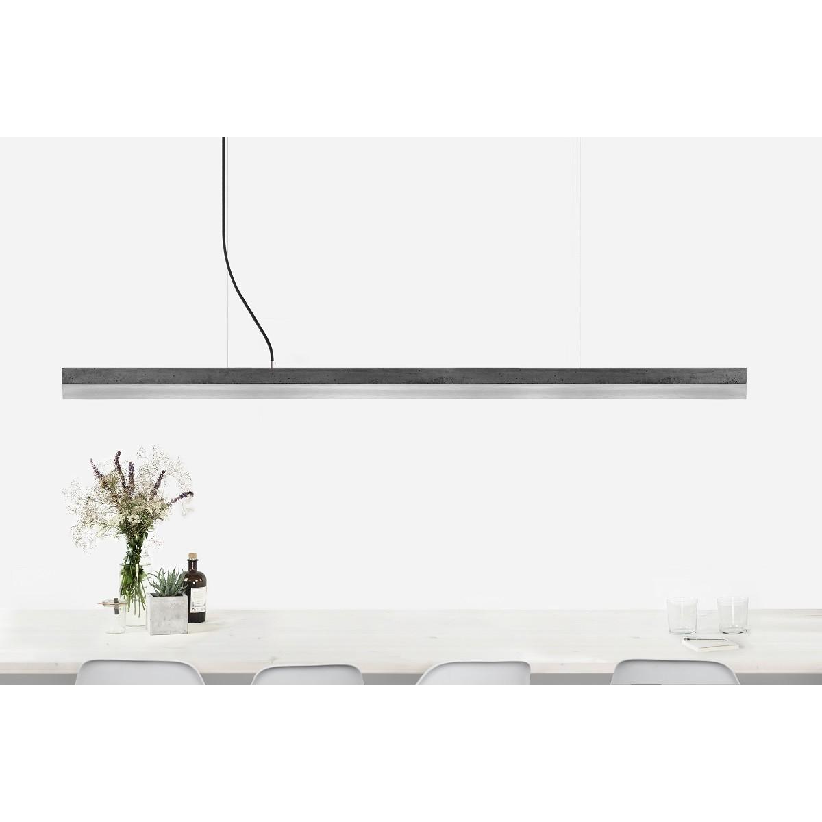 GANTlights - Beton Hängeleuchte [C3]dark/stainless steel Lampe Edelstahl minimalistisch