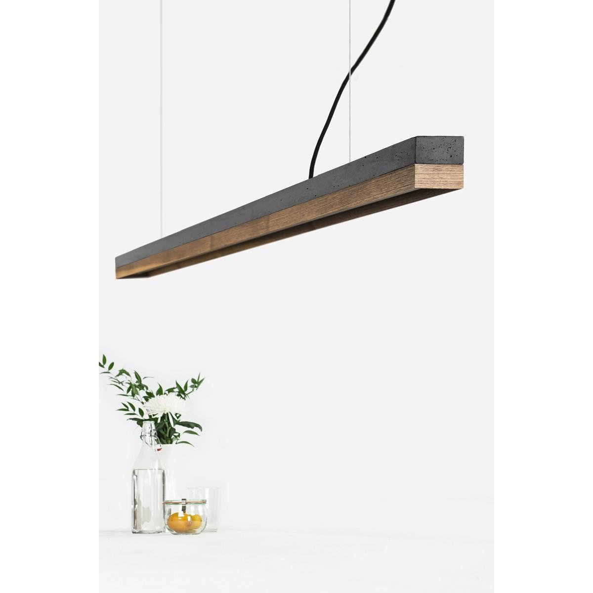 GANTlights - Beton Hängeleuchte [C3]dark/walnut Lampe Nussbaum minimalistisch