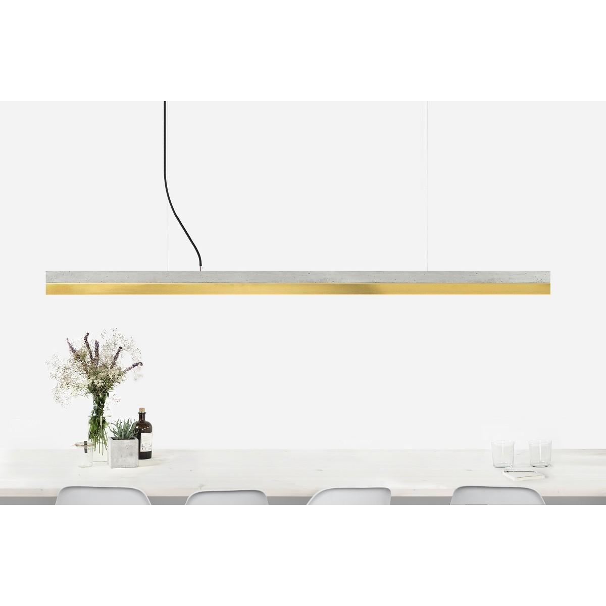 GANTlights - Beton Hängeleuchte [C3]brass Lampe Messing minimalistisch
