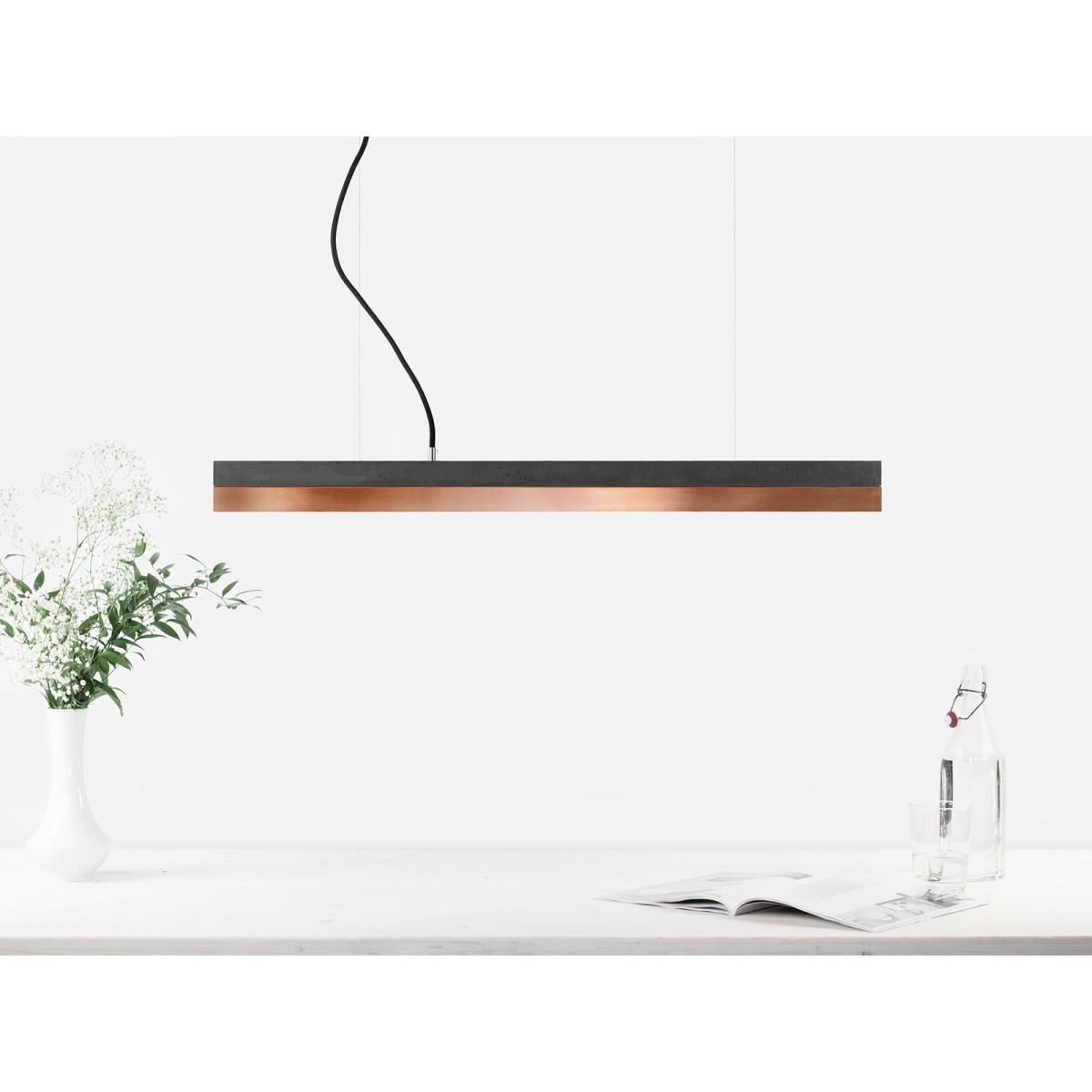 GANTlights - Beton Hängeleuchte [C2]dark/copper Lampe Kupfer minimalistisch