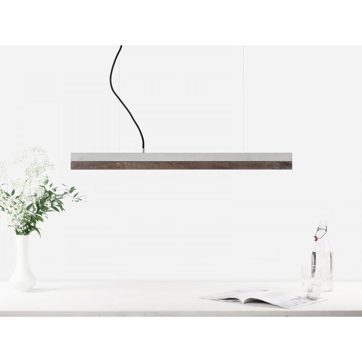 GANTlights - Beton Hängeleuchte [C2]corten Lampe Cortenstahl minimalistisch