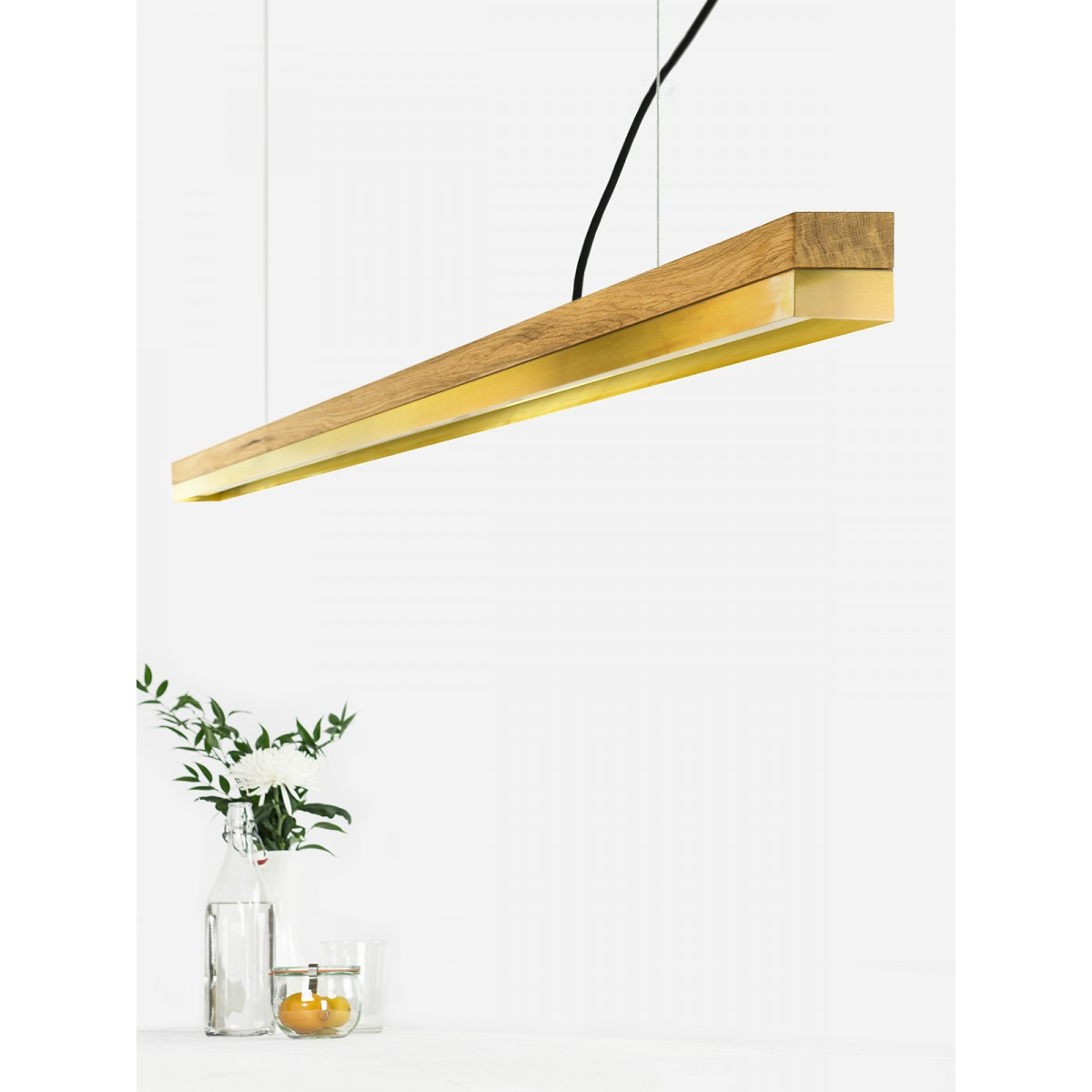 GANTlights [C3o]brass Pendelleuchte Messing lang