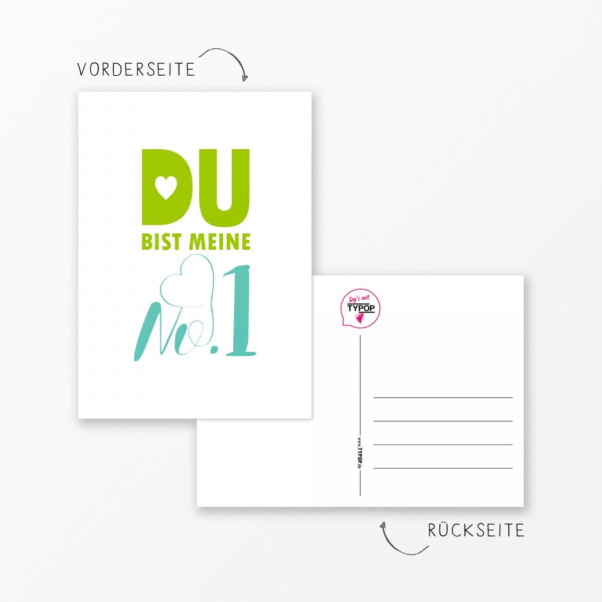"TYPOP Postkarte ""Meine No.1"" DIN A6"