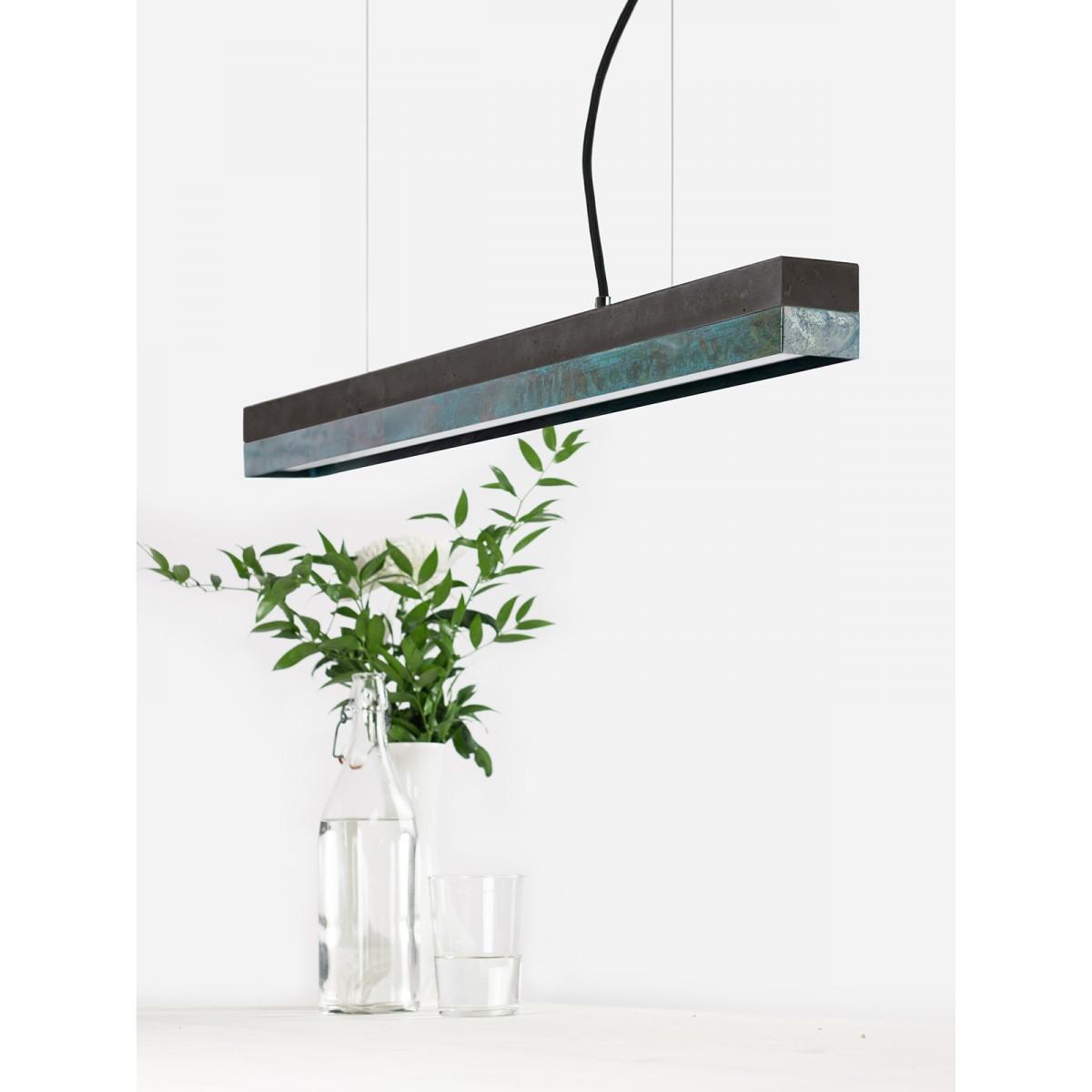 GANTlights - Beton Hängeleuchte [C2]dark/oxid Lampe Oxidiertes Kupfer minimalistisch