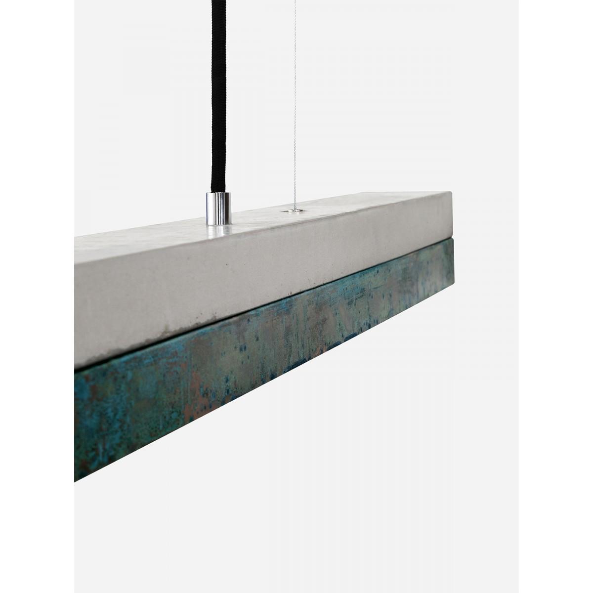 GANTlights - Beton Hängeleuchte [C2]oxid Lampe Oxidiertes Kupfer minimalistisch