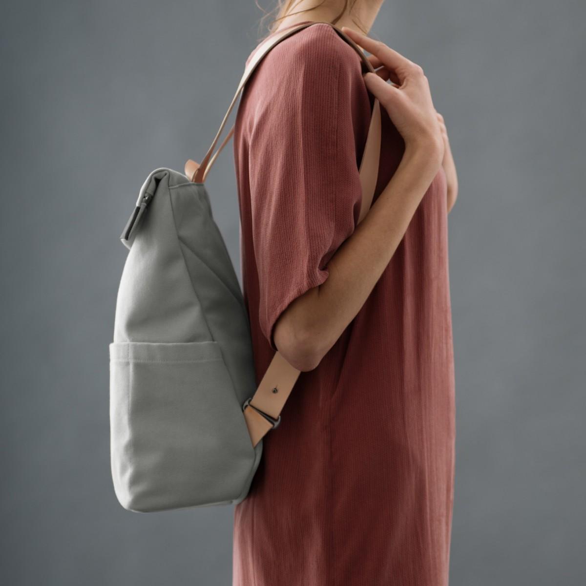 VANOOK Backpack Regular Grey/Nude