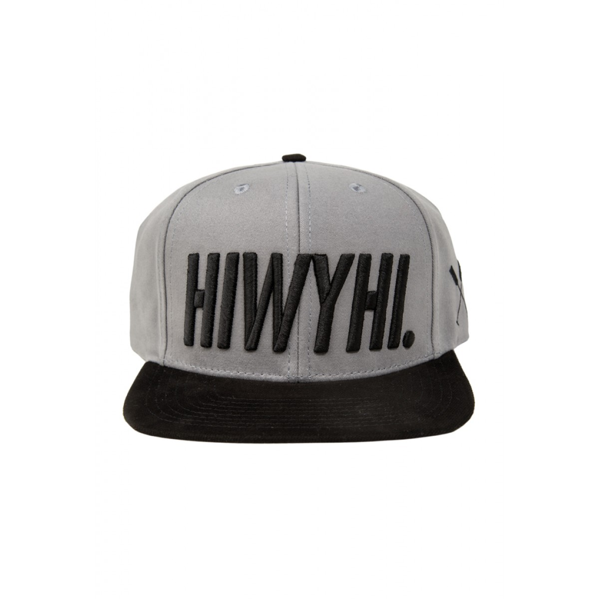 HOME IS WHERE YOUR HEART IS. - HIWYHI. SNAPBACK (GREY/BLACK)