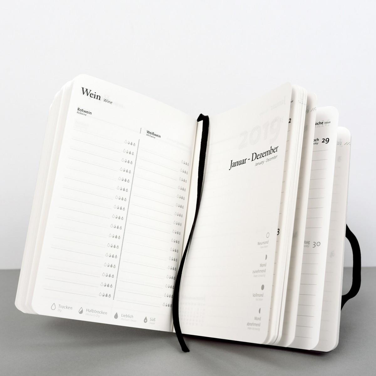 tyyp Kalender 2019 - Schwarz, DIN A6, Handmade