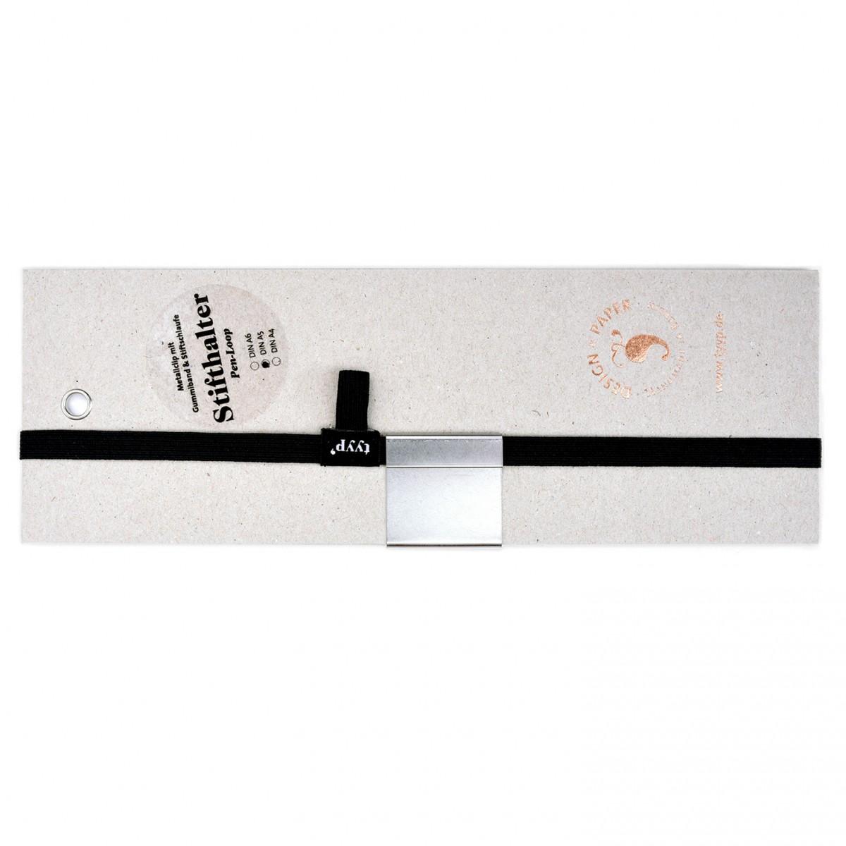 tyyp Stifthalter & Gummiband für DIN A4, A5 und A6 (Pen loop)