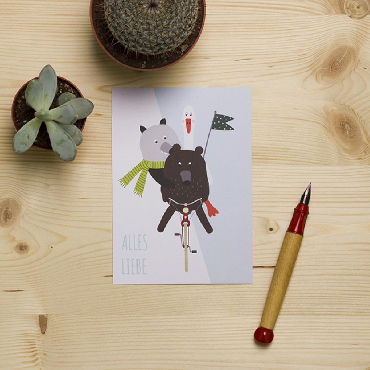 "HEJ Marlen Postkarte ""Alles Liebe"""