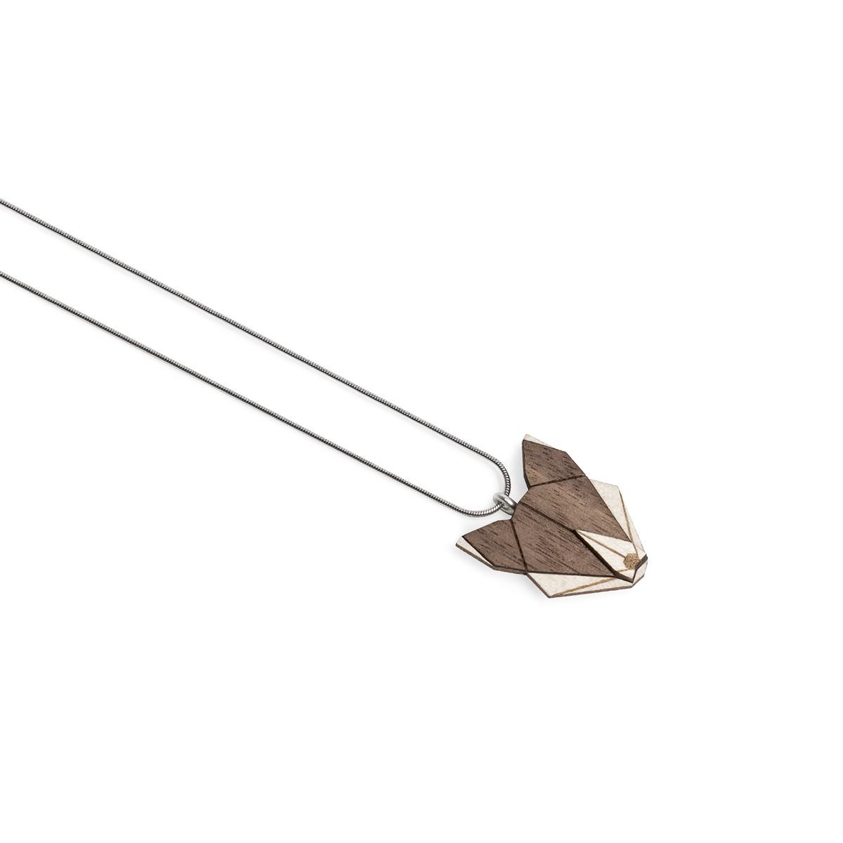 """BeWooden Halskette mit Anhänger mit Tiermotiv """"Wolfpendant"""""""
