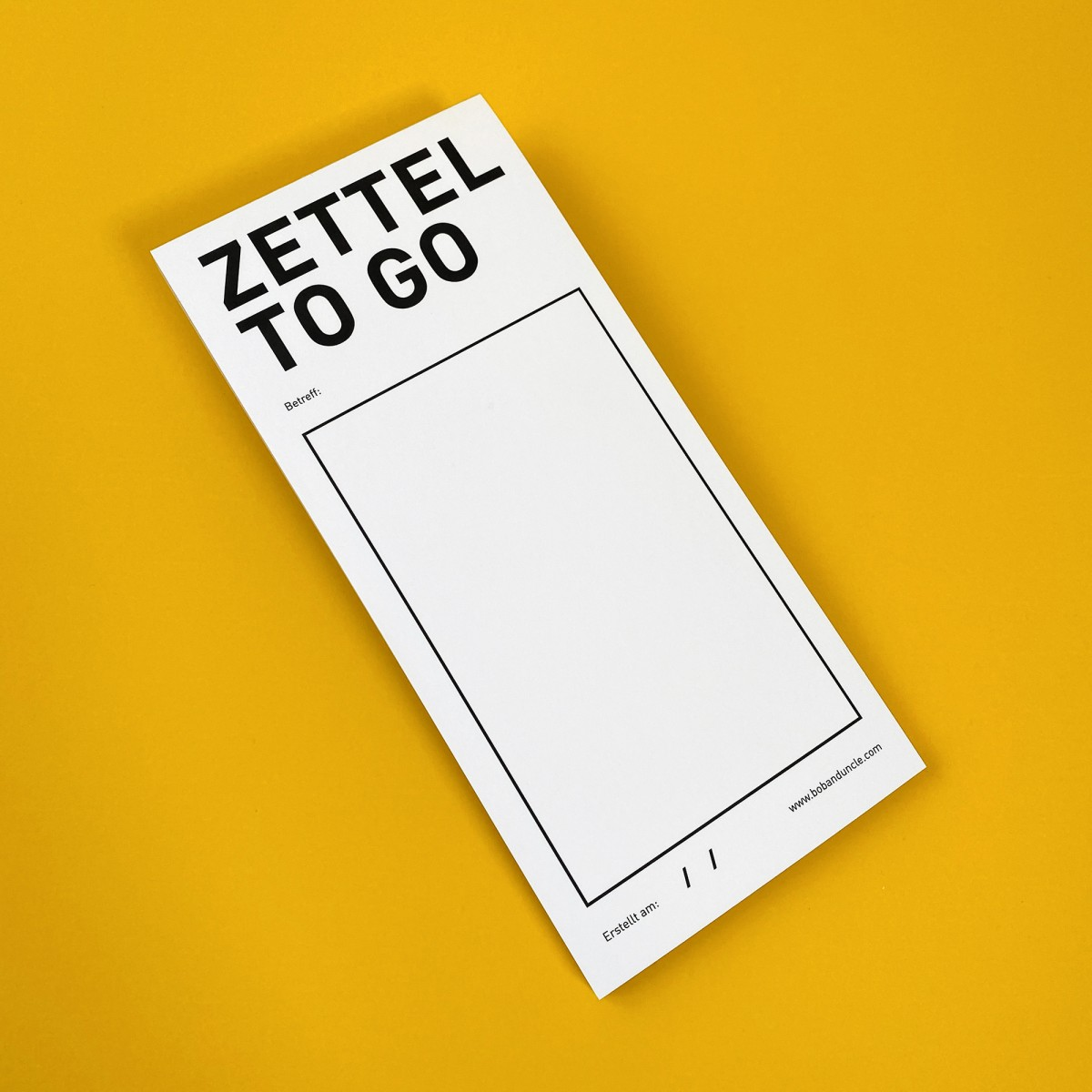 Bob and Uncle Design ZETTEL TO GO / Notiz Block / 2er-Set