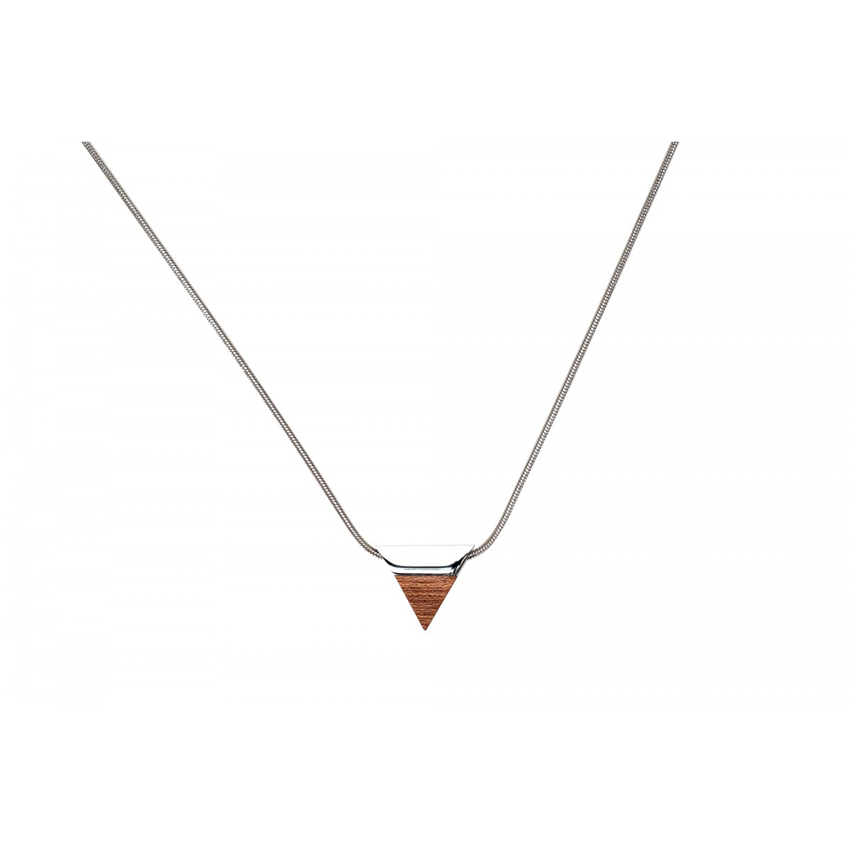 BeWooden - Kette mit dreieckigen Anhänger - Red Necklace Triangle