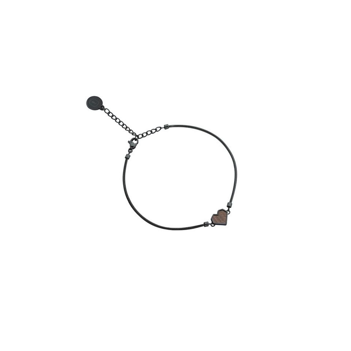 """BeWooden Armband mit Holzdetail - Motiv Herz - """"Apis Nox Bracelet Heart"""""""