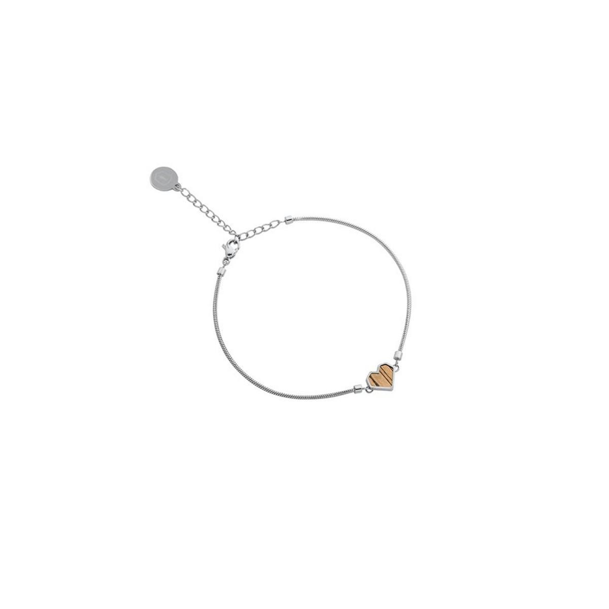 "BeWooden Armband mit Holzdetail - Motiv Herz - ""Lini Bracelet Heart"""