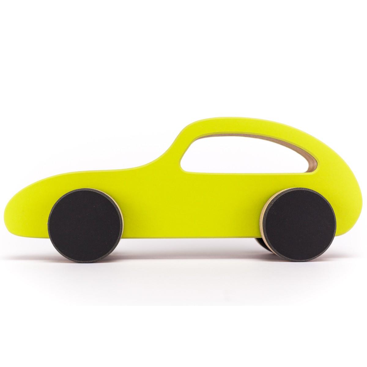 STADIG.brumm Spielzeugauto Flitzer aus Holz und Linoleum