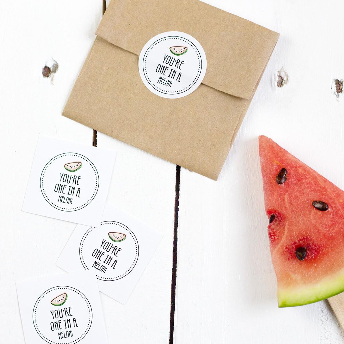 Kleine Papeterie // Obststicker // Melone