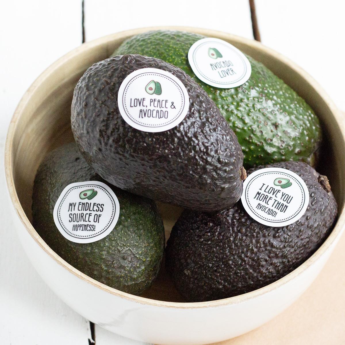 Kleine Papeterie // Obststicker // Avocado