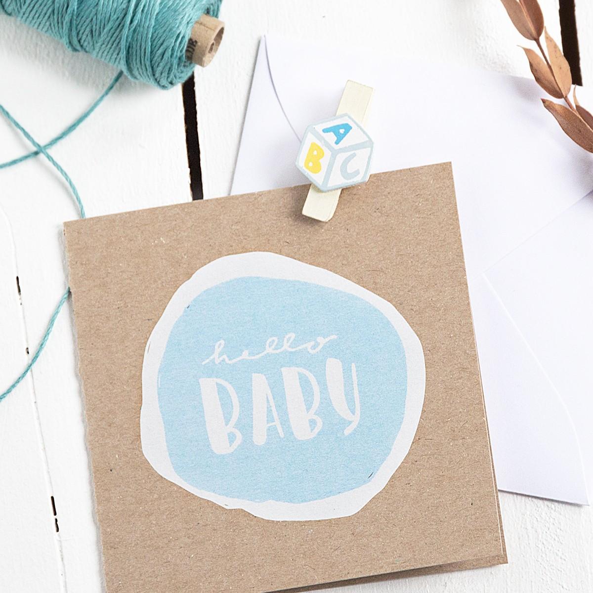 Kleine Papeterie // Hello Baby // Klappkarte Junge