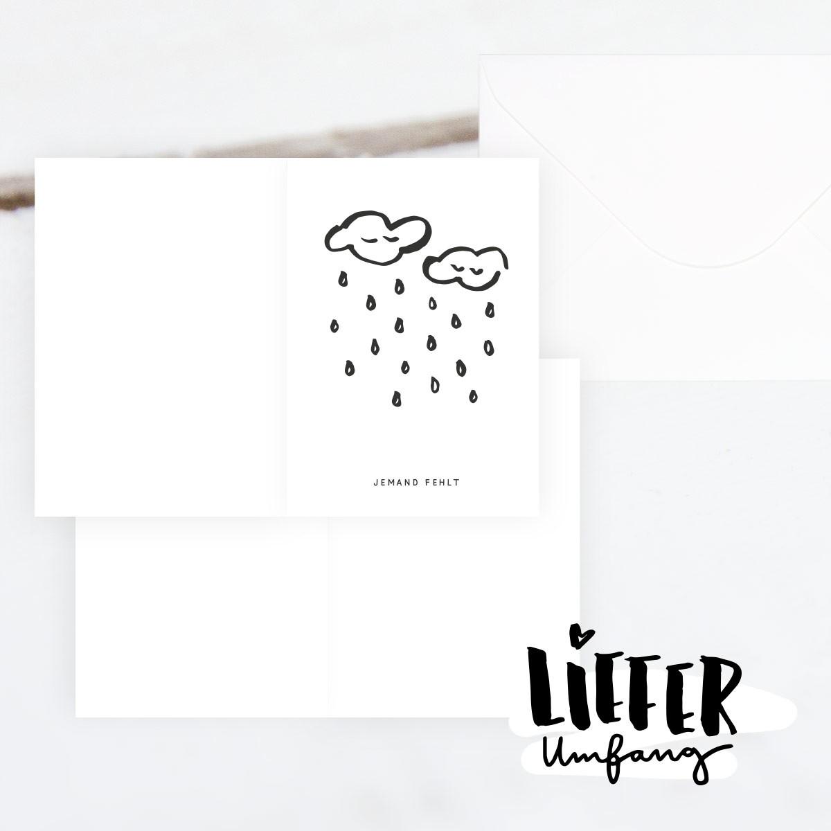 Kleine Papeterie // Jemand fehlt // Trauerkarte