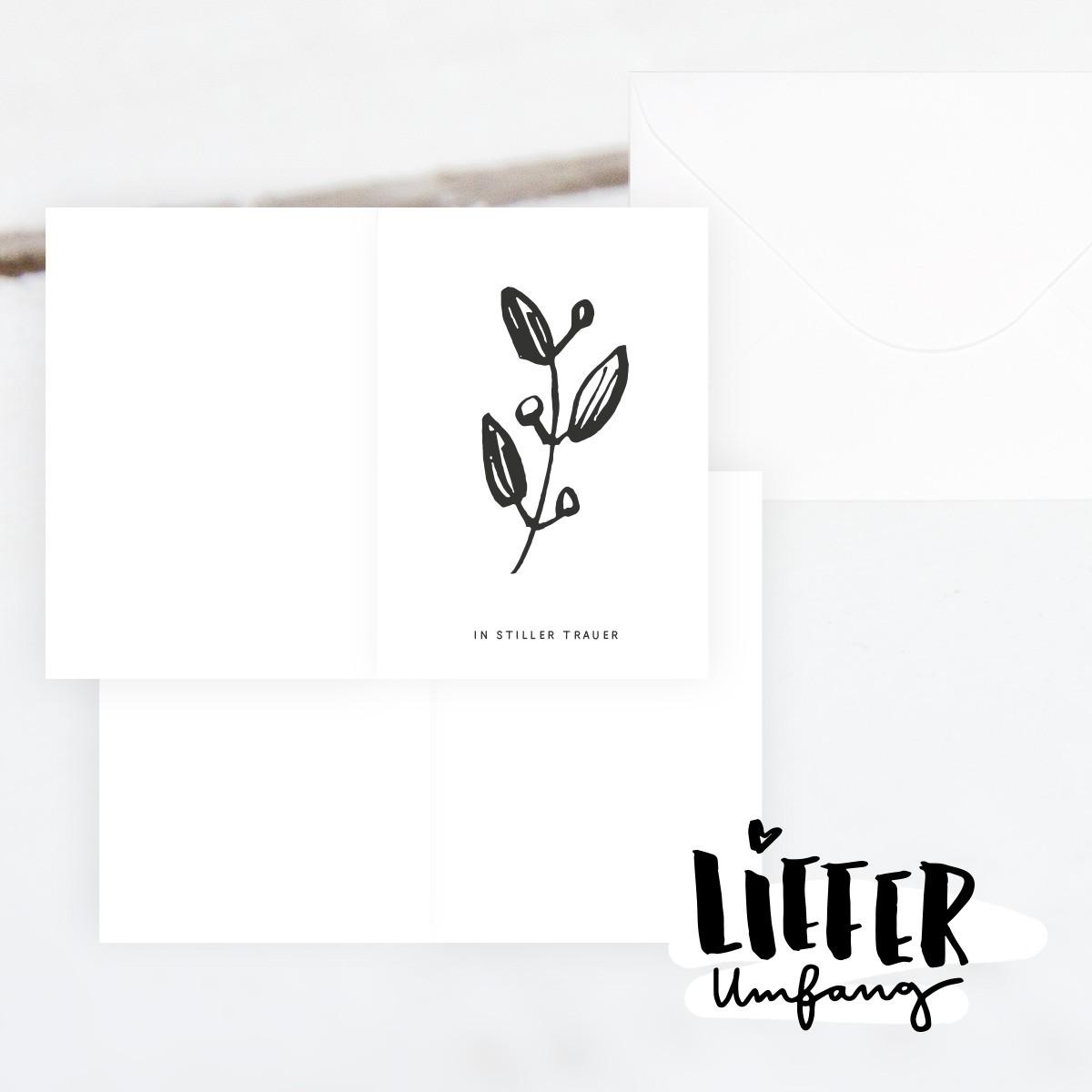 Kleine Papeterie // In stiller Trauer // Trauerkarte